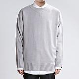 [쟈니웨스트] JHONNYWEST - Light Cable Knit (Gray) 니트
