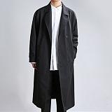[쟈니웨스트] JHONNYWEST - Trench Oversize Coat (Black) 트렌치 오버사이즈 코트