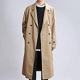 [쟈니웨스트] JHONNYWEST - Trench Oversize Coat (Beige) 트렌치 오버사이즈 코트