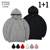 [로로팝] 프리미엄 쭈리 오버핏 후드 [1+1]