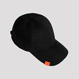 [러쉬오프]RUSH OFF-[Unisex] Addictive Orange Label Ballcap- Black / 애딕티브 오렌지 라벨 블랙볼캡