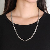 RUSHOFF [Unisex] Addictive Silver Chain Necklace (Surgical Steel)/ 에딕티브 실버체인 목걸이