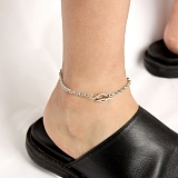 [러쉬오프] RUSHOFF [Unisex] Unusual Chain Ankle Bracelet (Surgical Steel)/ 언유즈얼 체인 발찌