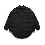 라퍼지스토어 - (Unisex) Gleam Shirt Padding_Black 셔츠자켓 패딩