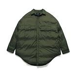 라퍼지스토어 - (Unisex) Gleam Shirt Padding_Khaki 셔츠자켓 패딩