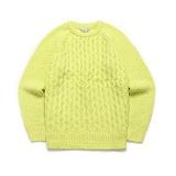 라퍼지스토어 - (Unisex) Candy Alpaca Knit_Lime 알파카 니트 스웨터