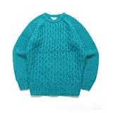 라퍼지스토어 - (Unisex) Candy Alpaca Knit_Turquoise 알파카 니트 스웨터