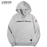 [엠블러]AMBLER 신상 자수 후드티 AHP404-멜란지 후디 자수 기모 세미오버핏