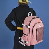 [에이비로드][USB포트+파우치SET] 시그니처 백팩 (baby pink) 백팩