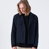 [블프특가][프로젝트624]PROJECT624 [UNISEX] 하이엔드 매트워싱 트러커 재킷(네이비) 자켓