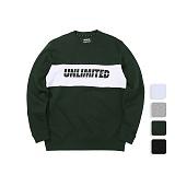 [언리미트]Unlimit - Panel Crewneck (U17DTTS56) 패널 크루넥 맨투맨 스��셔츠