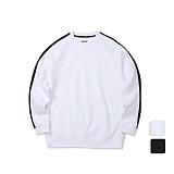 [언리미트]Unlimit - Angular Crewneck (U17DTTS61) 기모 사이드라인 크루넥 맨투맨 스��셔츠