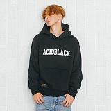 [에시드블랙] ACIDBLACK - ARCH LOGO HOOD (BLACK) 기모 후드티
