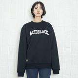 [에시드블랙] ACIDBLACK - ARCH LOGO MTM (BLACK) 기모 맨투맨 크루넥 스웨트셔츠
