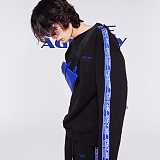 [스페이스에이지] SPACE AGE -  미션 스페셜리스트 스웨트 셔츠 (블랙) 맨투맨