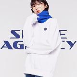 [스페이스에이지] SPACE AGE -  에이전시 넥워머 스웨트 셔츠 (화이트)