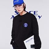 [스페이스에이지] SPACE AGE -  코어 로고 스웨트 셔츠 (블랙) 맨투맨