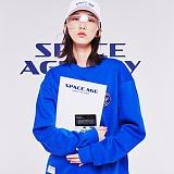 [스페이스에이지] SPACE AGE -  코어 로고 스웨트 셔츠 (블루) 맨투맨