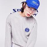 [스페이스에이지] SPACE AGE -  코어 로고 스웨트 셔츠 (그레이) 맨투맨