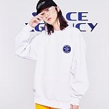 [스페이스에이지] SPACE AGE -  코어 로고 스웨트 셔츠 (화이트) 맨투맨