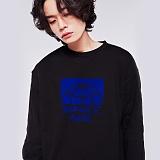 [스페이스에이지] SPACE AGE -  하프 코어 스웨트 셔츠 (블랙) 맨투맨