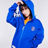 [스페이스에이지] SPACE AGE -  코어 로고 후드 집업 (블루)