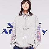 [스페이스에이지] SPACE AGE -  홀로그램 아노락 스웨트 셔츠 (그레이)