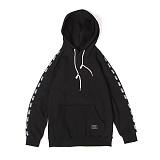 앱놀머씽 - Line Sleeve Hood (Black) 후드티셔츠