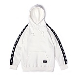 앱놀머씽 - Line Sleeve Hood (White) 후드티셔츠