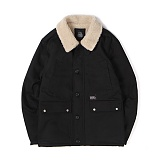 앱놀머씽 - Sherpa Deck Jacket (Black) 양털 덱자켓