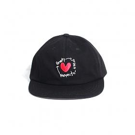 [티엔피]TNP HTR HEART BALL CAP - BLACK 볼캡 야구모자
