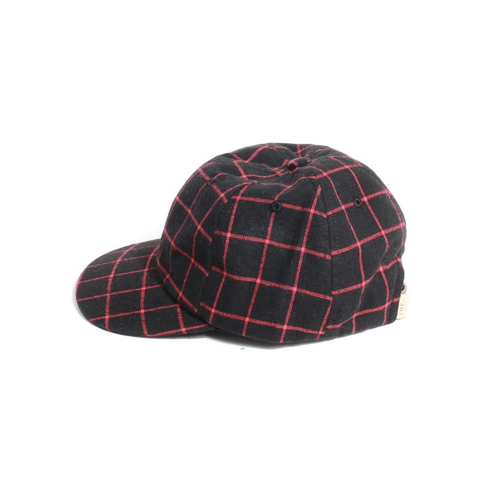 [티엔피]TNP MODERN CHECK BALL CAP - BLACK 볼캡 야구모자