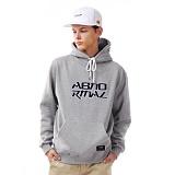 앱놀머씽 - Terry logo hood (gray) 후드티셔츠