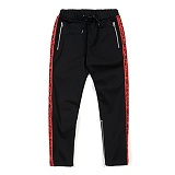 STIGMA - LINE ZIPPER JOGGER PANTS RED 조거팬츠