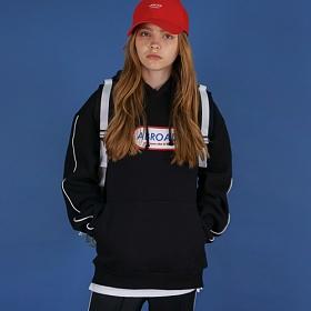 [에이비로드]Oversize Front Logo Hoodie (black) 후드 후드티