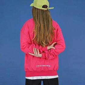 [에이비로드]Lettering Over Sweat Shirt (pink) 맨투맨
