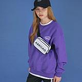 [에이비로드]Lettering Over Sweat Shirt (purple) 맨투맨