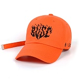 STIGMA - FLAME BASEBALL CAP ORANGE 야구모자 볼캡