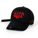 STIGMA - FLAME BASEBALL CAP BLACK 야구모자 볼캡