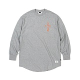 STIGMA - CRUZ LAYERD LONG SLEEVES T-SHIRTS GREY_긴팔티
