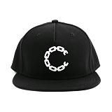 [크룩스앤캐슬]CROOKS & CASTLES Snapback Cap - Beveled Chain C Black 스냅백