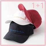 [리플라이퍼키]RE FLY PERKY [UNISEX 1+1] 퍼키슬로건 피치 스트랩 볼캡 (3color) 야구모자