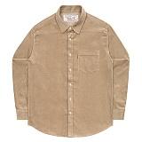 [언더에어] UNDERAIR 8w Corduroy Shirts - Beige 코듀로이 셔츠 남방