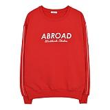 [에이비로드]Signature Logo Sweat Shirt (red) 맨투맨