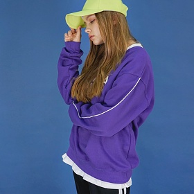 [에이비로드]Signature Logo Sweat Shirt (purple) 맨투맨