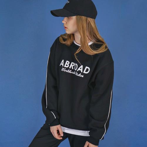 [에이비로드]Signature Logo Sweat Shirt (black) 맨투맨