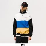 [어커버]ACOVER - 3 BLOCK HALF ZIP UP 컬러 블럭 하프집업 맨투맨 스��셔츠