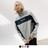 [어커버]ACOVER - ACOVER LOGO HALF ZIP UP 기모 컬러 블럭 하프집업 맨투맨 스��셔츠