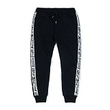 STIGMA - SIDE TAPE HEAVY SWEAT JOGGER PANTS BLACK 조거팬츠