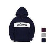 [언리미트]Unlimit - Panel Hood (U17DTHD63) 패널 후드티 후드